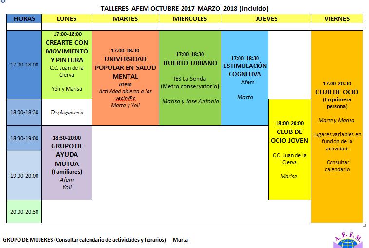 Calendario De Actividades Eventos