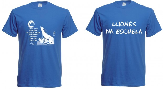 camiseta Llionés na escuela