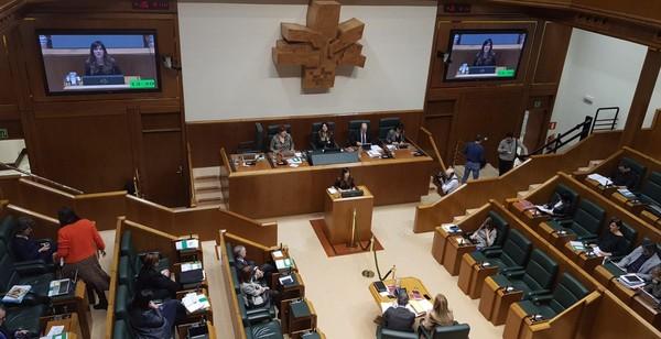 Sesión del Parlamento Vasco