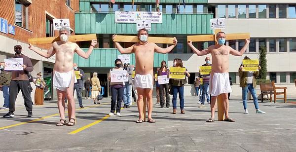 Momento de la protesta