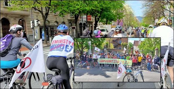 Momento de la marcha en bici