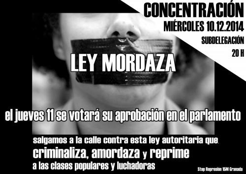 ley mordaza concentración 10.12.2014