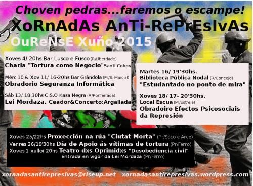 cartaz xornadas Choven Pedras PROGRAMA