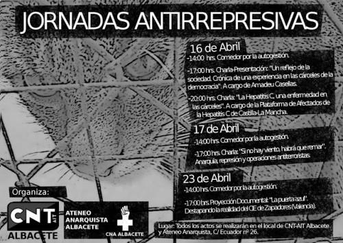 CARTEL DEFINITIVO Jornadas Antirrepresivas