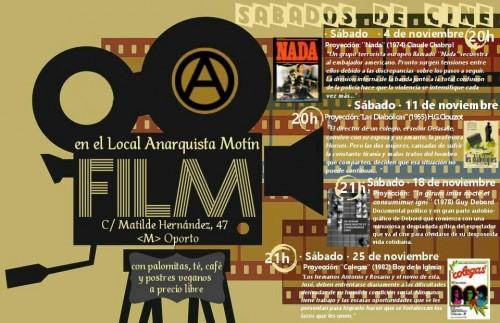 cartel cine noviembre