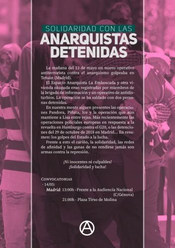 cartel represión MDD 14.5.2019