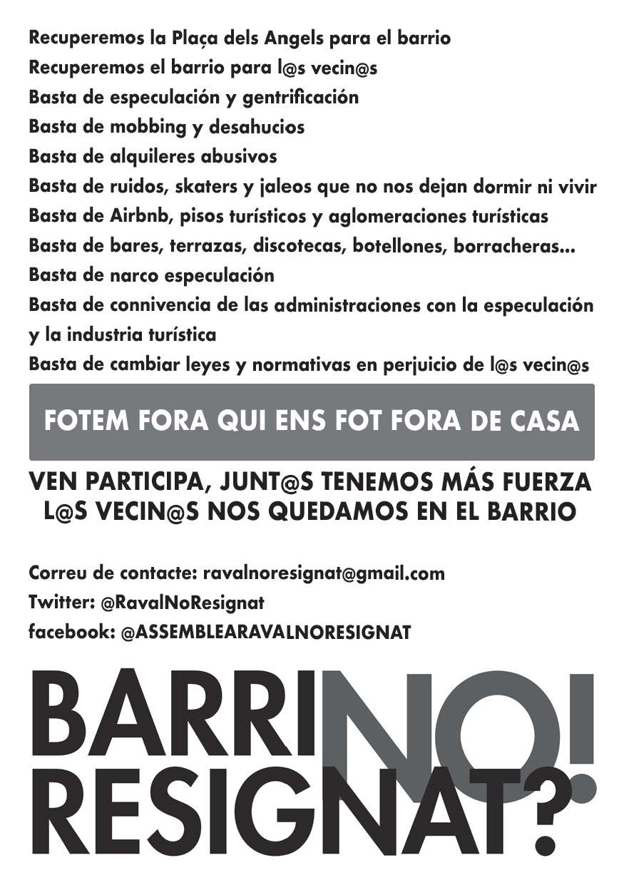 cartel texto barrios