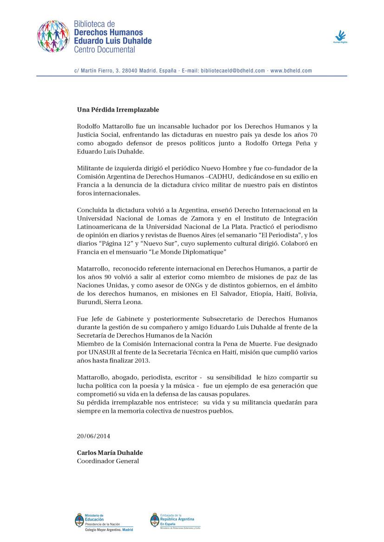 Comisión de Exiliados Argentinos Madrid - Tirso de Molina 8