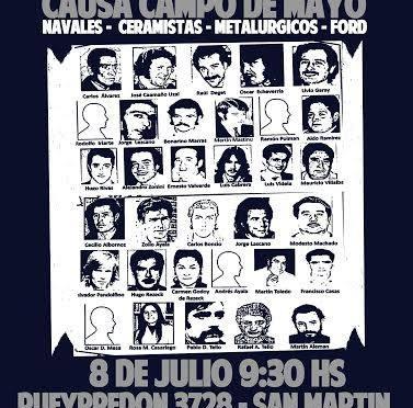 Juicios / El martes 8 de julio comienza el juicio oral , parte de la mega causa Campo de Mayo.