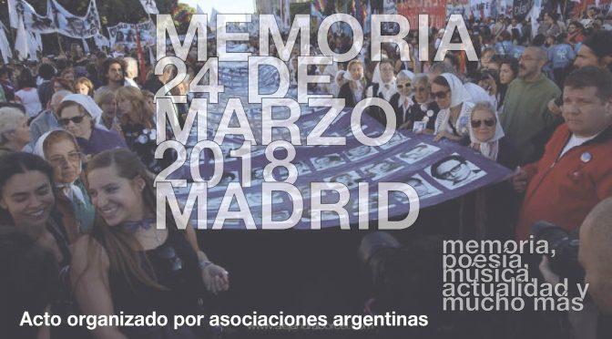 1º Abril '18  Año VII Boletín 159 la CEAM – Actos por el Día de la Memoria Verdad Justicia
