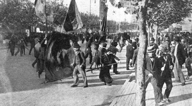 1º de Mayo  Boletín Nº 209 de la CEAM. 1º mayo 1909 Hacia plaza lorea