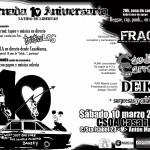 Conciertazo 10º aniversario en CSO Casablanca