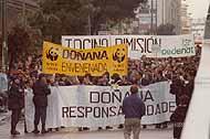 manifestación contra la destrucción de Doñana