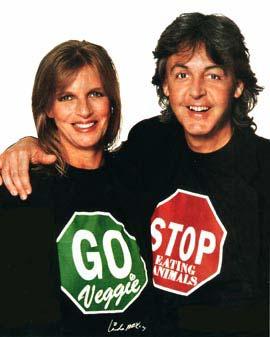 Paul y Linda (RIP) Mcarny, vegetarianos y amantes de los animales.